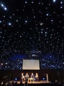 Moira Young, Julianna Baggott and Saci Lloyd on the Starlight Stage